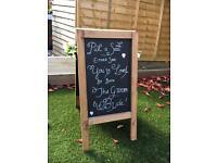 A-frame chalk board for wedding
