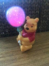 Tomy Winnie the Pooh balloon night light/ lightshow.