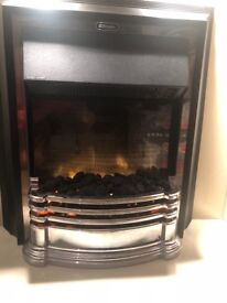 Electric fire & surround with lights