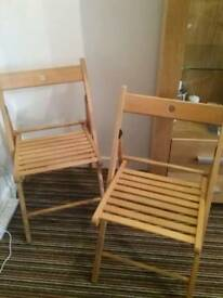 2 × ikea folding chairs