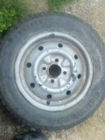 Four ifor williams trailer wheels and tyres