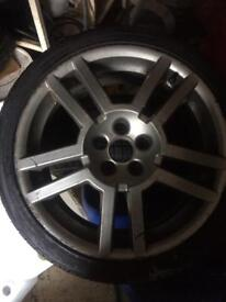 205/40/17 alloy wheel with almost new tyre
