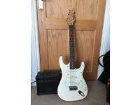 Electric guitar + amp + soft case