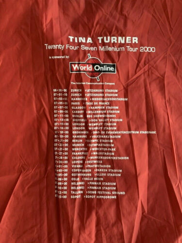 TINA TURNER 24/7 Tour 2000 Wind Breaker Crew S.W.A.G.