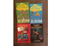 4x children's books Jo Nesbo Terry Pratchett James Patterson