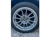 "Single 15"" OZ racing alloy wheel and tire"