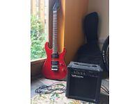 Archer SS30 electric guitar and Watson guitar amplifier