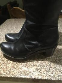Clarks Black boots size 6