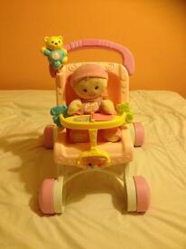 Baby Walker Pushchair + Doll