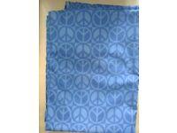 Fabric length - Blue peace symbol pattern cotton 112 cm wide - 3 m
