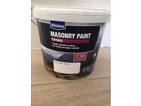 Wickes Masonry Paint - White Textured - For outdoor use - 2.5Litres