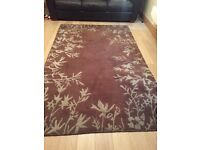 Dunelm brown and teal rug