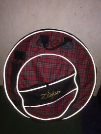 Zildjian cymbal carrier and Mapex Snare Drum bag