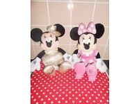 DISNEY STORE MINNIE MOUSE X2 SOFT TOYS