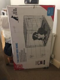 Giant for big dog 50 kg two door wire home BRAND NEW