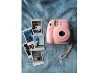 Instax mini 8 camera pink, case, frames, selfie mirror