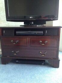 Mahogany TV and satellite cabinet