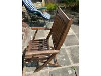 Garden Table and four chairs - wooden