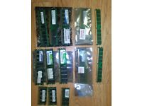 JOBLOT of 13 RAM Sticks for laptop and pc