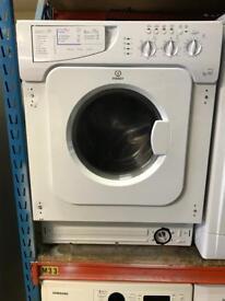 Indesit washer dryer built in