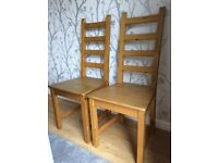 2x Wooden Dining Chairs
