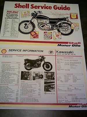 Kawasaki KH500 A8- 500H1 - 750 H2 Triple -  Shell Service Sheet