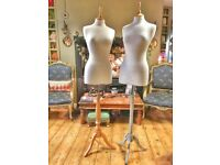 Two tailors' dummy style display mannequins, £25 each, £45 for both