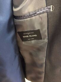Immaculate slate grey River island lads suit , perfect for prom ( never worn )