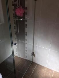 Wet room panel and door . Unused