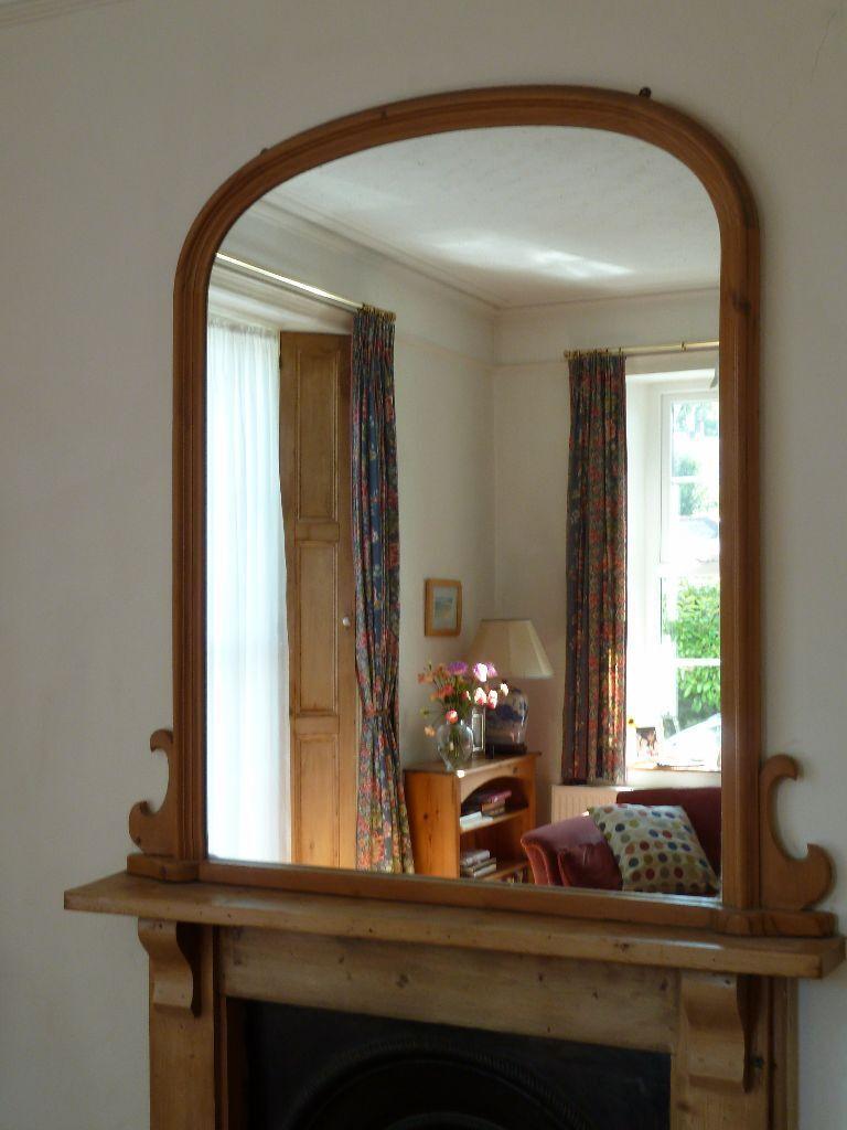 Large over mantel mirror in torquay devon gumtree for Mantel mirrors