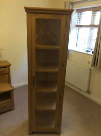 Oak & Glass Display Cabinet