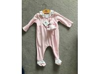 Emile et Rose baby suit with toy 3-6 months (new with tags)