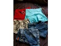 Girls short pants and skirts