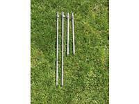 4 stainless steel adjustable fishing bank sticks