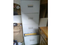 4 drawer filing cabinet including hanging files plus files/folders/office sundries