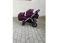 Baby Jogger City Select - twin pram including maxi cosi car seat adapters