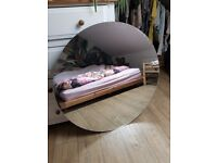 Large round high quality mirror, no frame
