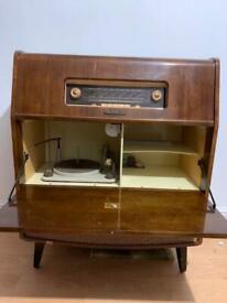 VINTAGE HMV AM/FM AUDIO RADIO GRAMOPHONE, TABLE,furniture, bedside table, dresser