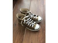 Converse All Stars Gold Leather size 13