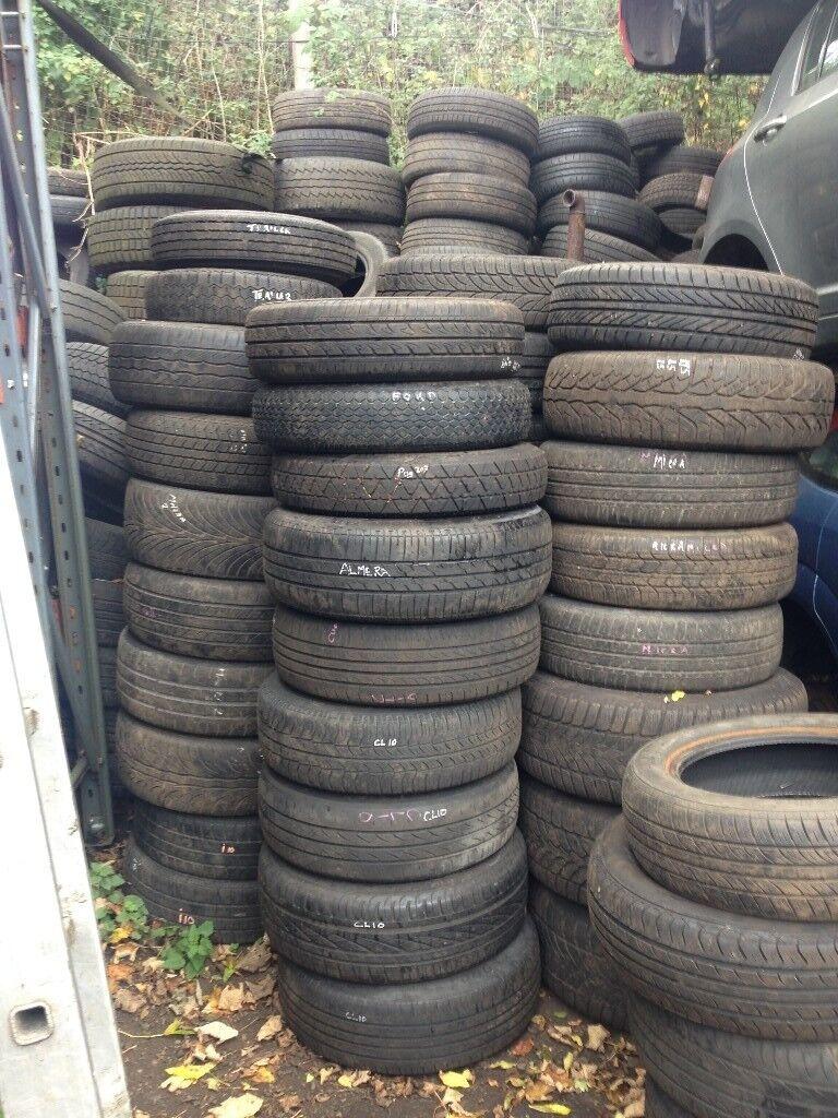car Tyres for sale £2 a tyre bulk whole sale call 07414801870