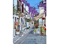 Skiathos Town A3 Giclee limited edition print