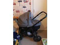 Venicci denim grey travel system (pram/pushchair) (car seat)