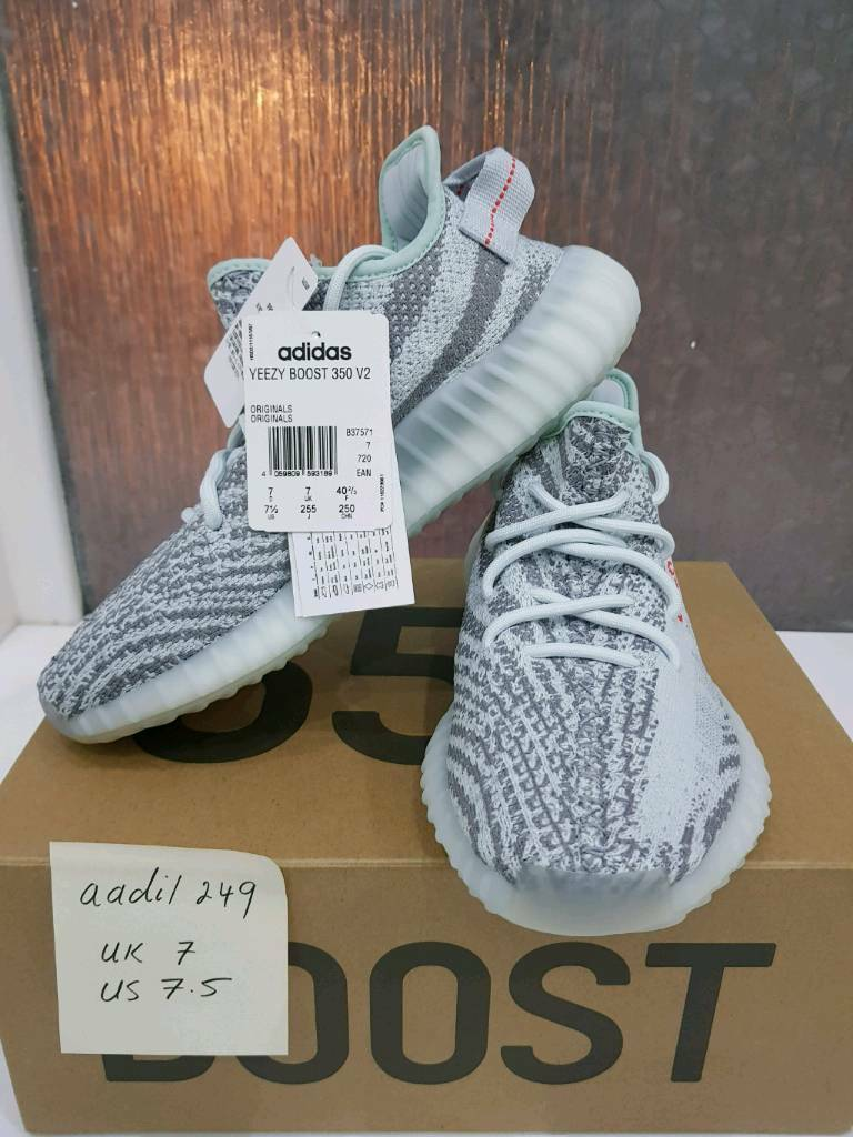Adidas Yeezy Boost 350 V2 Blue Tint - UK 7/US 7.5 Authentic 100%