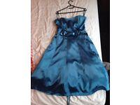 Cobalt Blue Cocktail / Prom straples dress by Lissa Paris size small/medium