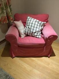 Pink ektorp ikea arm chair