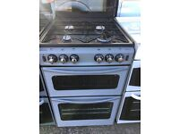 NEWHOLME STOVES 55CM ALL GAS COOKER IN SILIVER WITH LID