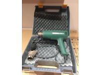 JCB wood planer, Bosch heat gun, Bosch jigsaw, Bosch hammer drill.