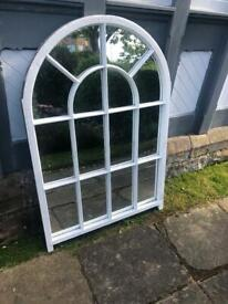 Antique Arched Wooden Mirror