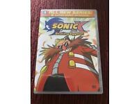 Sonic X Beating Eggman on Region 1 DVD