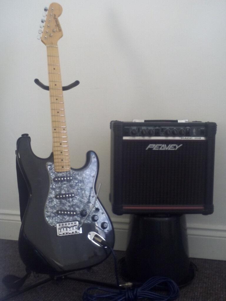 Session Pro Guitar and Peavey Rage 15Watt Transtube combo